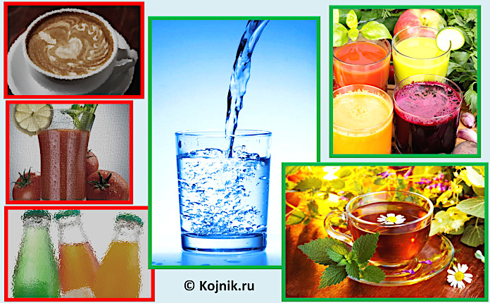 Запрещенные и рекомендуемые Пегано напитки при псориазе