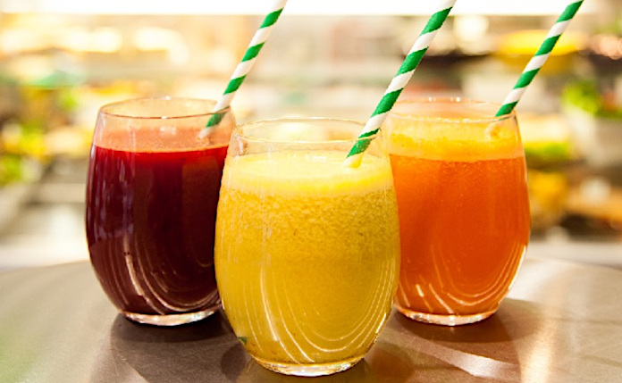 Рекомендуемые Пегано свежевыжатые овощные и фруктовые соки