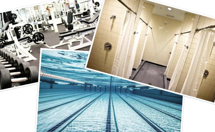 Места, в которых легко можно заразиться грибком: душевая, бассейн или тренажерный зал.